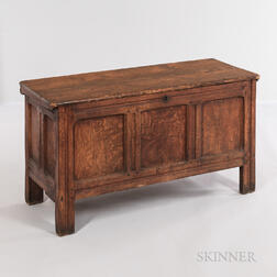 Oak and Pine Joined and Paneled Chest