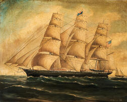 Richard Ball Spencer (British, 1812-1897)      The Vessel Westward Ho