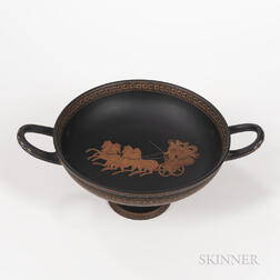 Wedgwood Encaustic Decorated Black Basalt Font