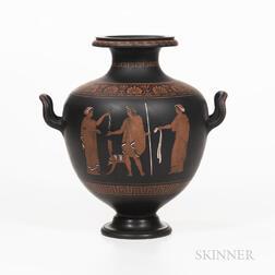Wedgwood Encaustic Decorated Black Basalt Vase