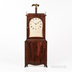 Mahogany and Mahogany Veneer Shelf Clock