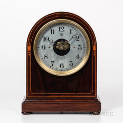 Bulle Electro-Mechanical Inlaid Mahogany Mantel Clock