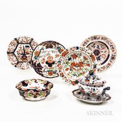 Seven Pieces of Imari Palette Ironstone China