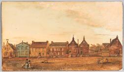 James Eights (New York, 1798-1882)    Street View, Albany, New York