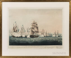 After Thomas Whitcombe (British, 1763-1824)      Bay of Naples, 1810, To Captain Jahleel Brenton, His Officers, Seamen and Marines