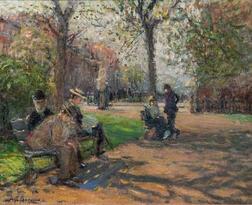 Arthur Clifton Goodwin (American, 1866-1929)      Loungers in the Public Garden