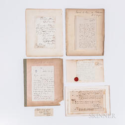 Six 19th Century U.S. Military Letters and Autographs.