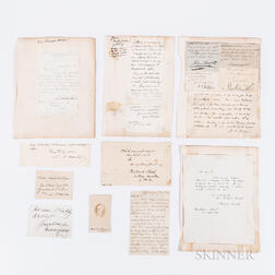 Fifteen 19th Century American Politician's Letters and Autographs.