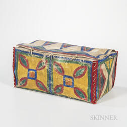 Plains Painted Parfleche Box