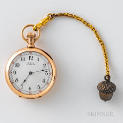 14kt Gold Waltham Open-face Size 1 Watch