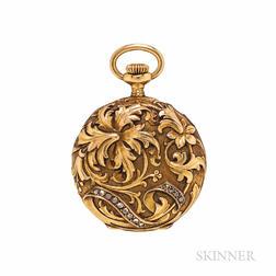 Art Nouveau Vacheron & Constantin 18kt Gold and Diamond Hunting-case Pocket Watch