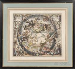 After Andreas Cellarius (Dutch/German, 1595-1665)      Hemispaerium Scenographicum Australe Coeli Stellati et Terrae