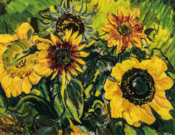 Sir Jacob Epstein (American/British, 1880-1959)      Sunflowers