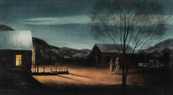 Peter Hurd (American, 1904-1984)      Evening in New Mexico