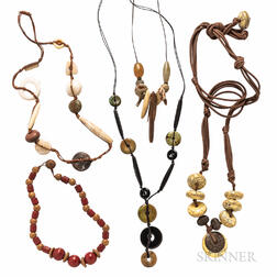Group of Ethnographic Necklaces