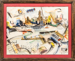 George Schwacha Jr. (American, 1908-1986)      The City