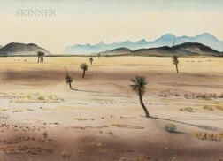 Peter Hurd (American, 1904-1984)      La Sierra Madre Occidental