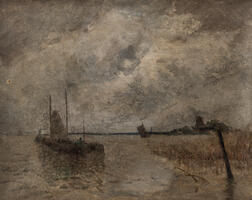 Eugène Laurent Vail (American/French, 1857-1934)      La Meuse, Hollande