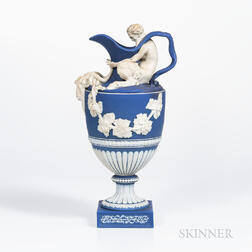 Wedgwood Dark Blue Jasper Dip Wine Ewer