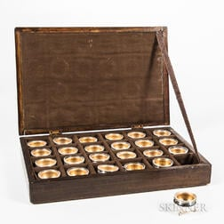 Cased Set of Twenty-four Individual Salt Cellars