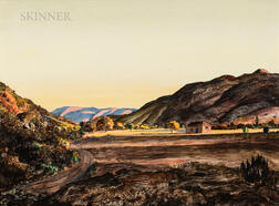 Peter Hurd (American, 1904-1984)      Valley in October