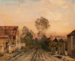 Jean-Charles Cazin (French, 1841-1901)      Village Lane