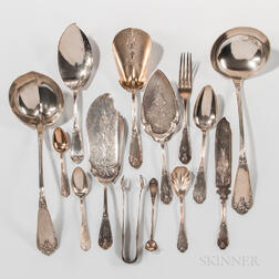 "Group of W.K. Vanderslice ""Gargoyle"" Pattern Silver Flatware"