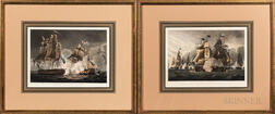 After Thomas Whitcombe (British, 1763-1824), Nineteen Plates from The Naval Achievements of Great Britain from the Year 1793 to 1817, P