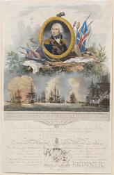Piercy Roberts (British, active c. 1785-1824)      Admiral Lord Nelson K.B. and the Victory of the Nile