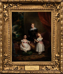 British School, 19th Century      Maria, George, and Cecelia Wyndham, Painted at Cromer Hall