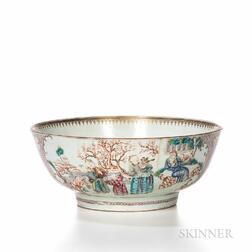 Famille Rose Export Punch Bowl