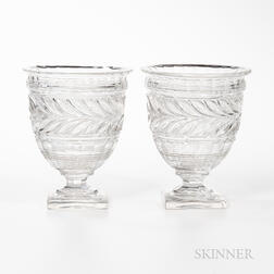Pair of Baccarat Crystal Vases