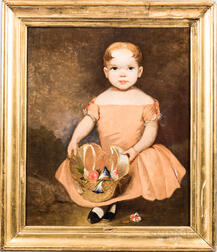 American School, Mid-19th Century    Portrait of Lizzie Getz