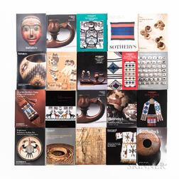 Twenty American Indian Art Auction Catalogs