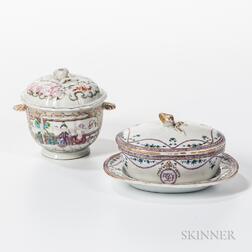 Two Export Porcelain Sugar Bowls