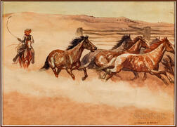 Three Leonard Reedy Watercolors