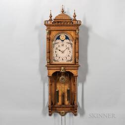 """Oak Seth Thomas """"Jupiter"""" Wall Clock"""
