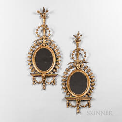 Pair of Classical Giltwood Mirrors