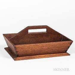 Shaker Butternut and Walnut Knife Box