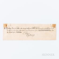 Lee, Robert E. (1807-1870) Document Signed, c. 1840.