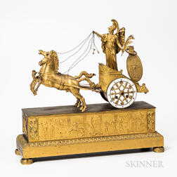 Empire Gilt-bronze Mantel Clock