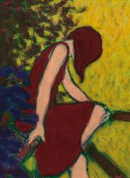 William Anzalone (American, b. 1935)      Woman in Red