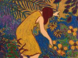 William Anzalone (American, b. 1935)      Woman in Yellow