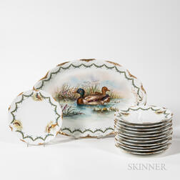 Limoges Porcelain Game Service