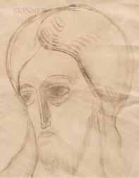 Natalia Sergeevna Goncharova (Russian, 1881-1962)      Head of Christ