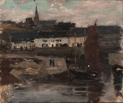 Eugène Laurent Vail (American/French, 1857-1934)      Le Port D'Audierne, Brittany