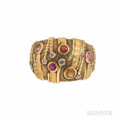 Alex Sepkus 18kt Gold Gem-set Ring
