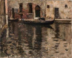 Eugène Laurent Vail (American/French, 1857-1934)      Rio Del Canonica, Venice