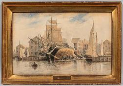 Frederic Schiller Cozzens (New York/Massachusetts, 1846-1928)      Sheathing, New Bedford, Massachusetts
