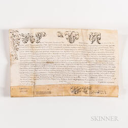 Pope Pius VII (1742-1823) Document Signed, Rome, Italy, 14 May 1823.